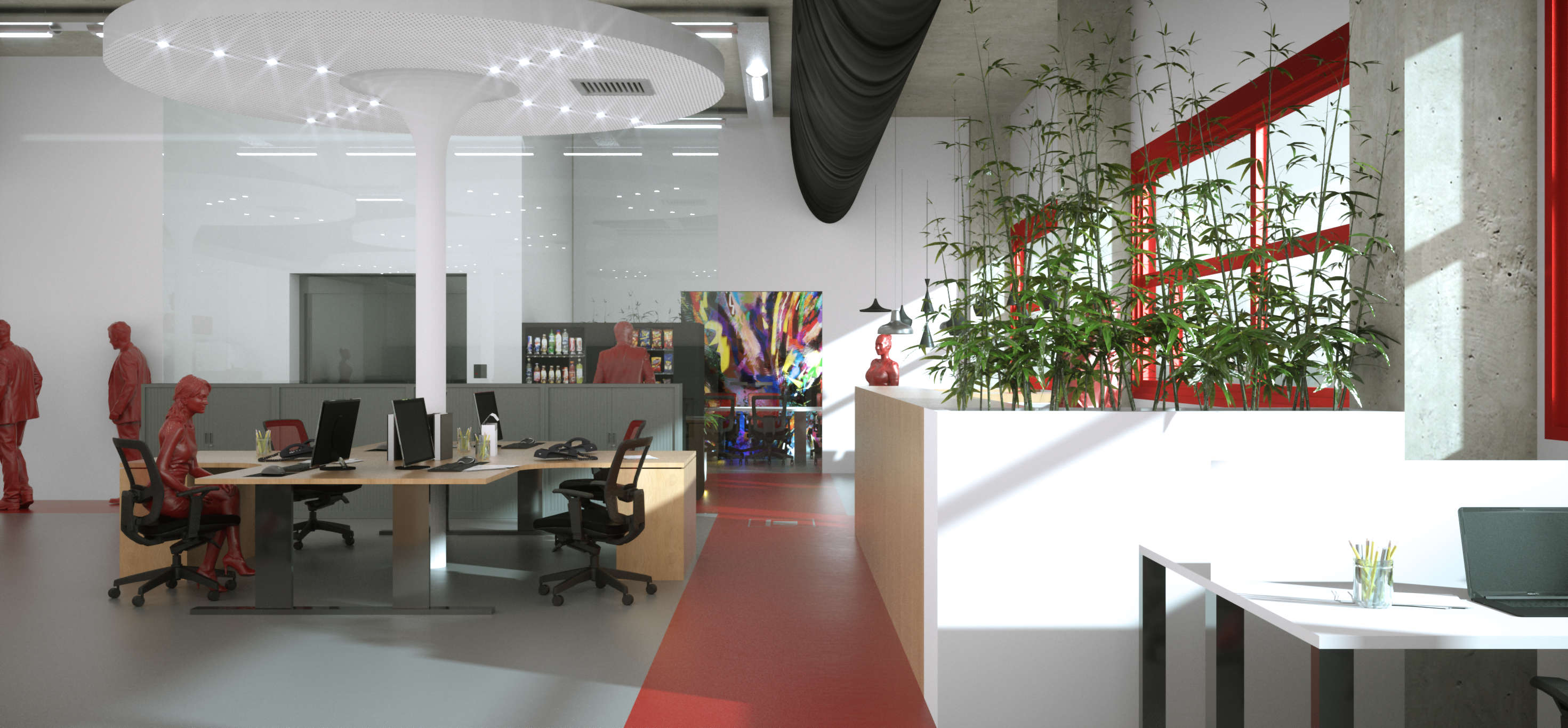 I Used Octane Render + Phantom Scatter In An Interior Project. Here Are  Some Of The Pics: